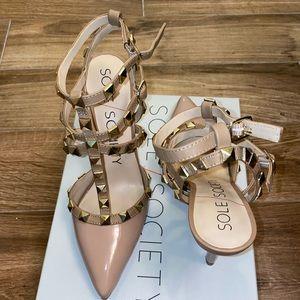 NWT Sole Society TIIA Studded heels